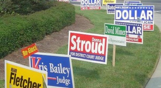 Do election lawn signs generate votes?