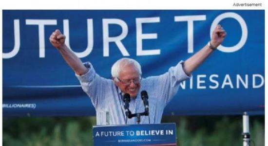 Sanders Uses Rally Live-Stream in Ads to Appeal to Millennials