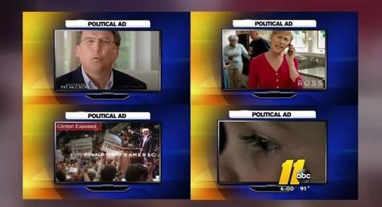 Spending on political ads at record pace in NC