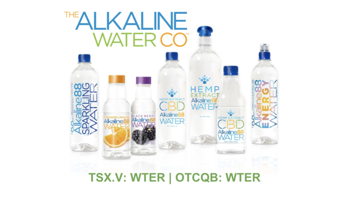 The Alkaline Water Company (TSXV and OTCQB: WTER) Prepares CBD Beverages For Canadian and US Market