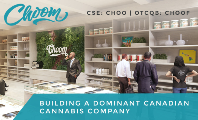 Choom Enters LOI With Retail Lottery Winner To Open Store In Ontario