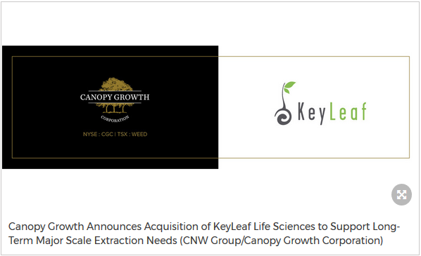 Canopy Growth Announces Acquisition of KeyLeaf Life Sciences