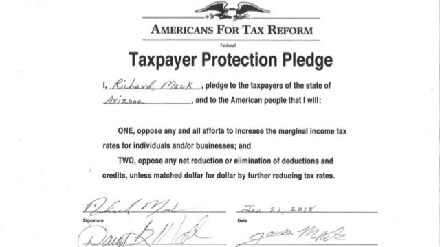 Sheriff Richard Mack Signs the Taxpayer Protection Pledge