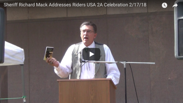 Sheriff Richard Mack Addresses Riders USA Second Amendment Celebration
