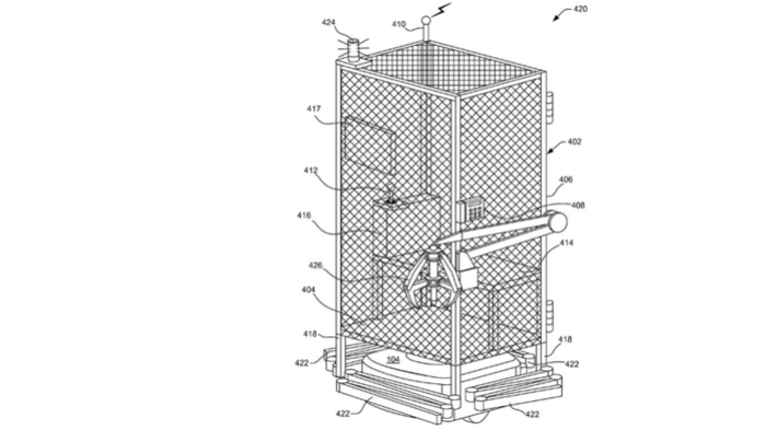 Amazon has patented a system that would put workers in a cage, on top of a robot