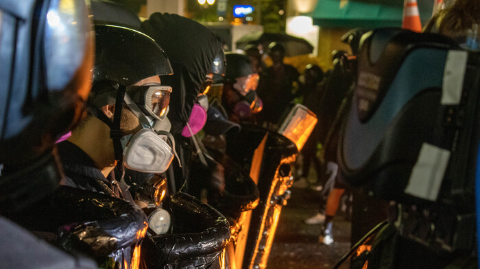Police Arrest Six Protesters in Downtown Portland