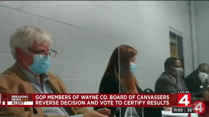 Wayne County Reverses Decision, Certifies Disputed Election Results as Video Goes Dark
