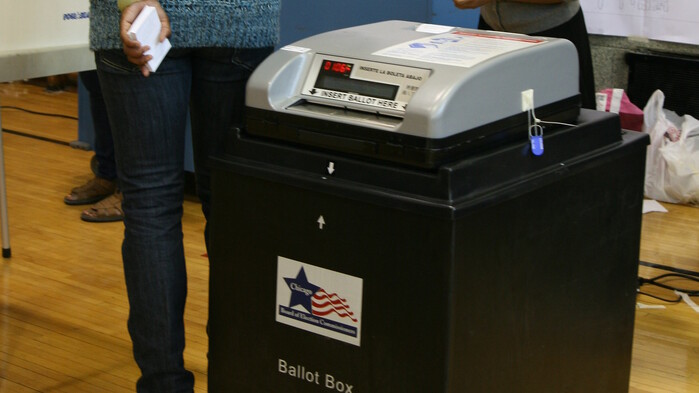 Frustrated LA voters given provisional ballots after equipment glitch in recall election