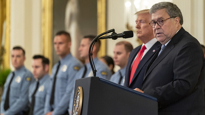 Trump rips into 'weak' and 'pathetic' Barr in scathing statement