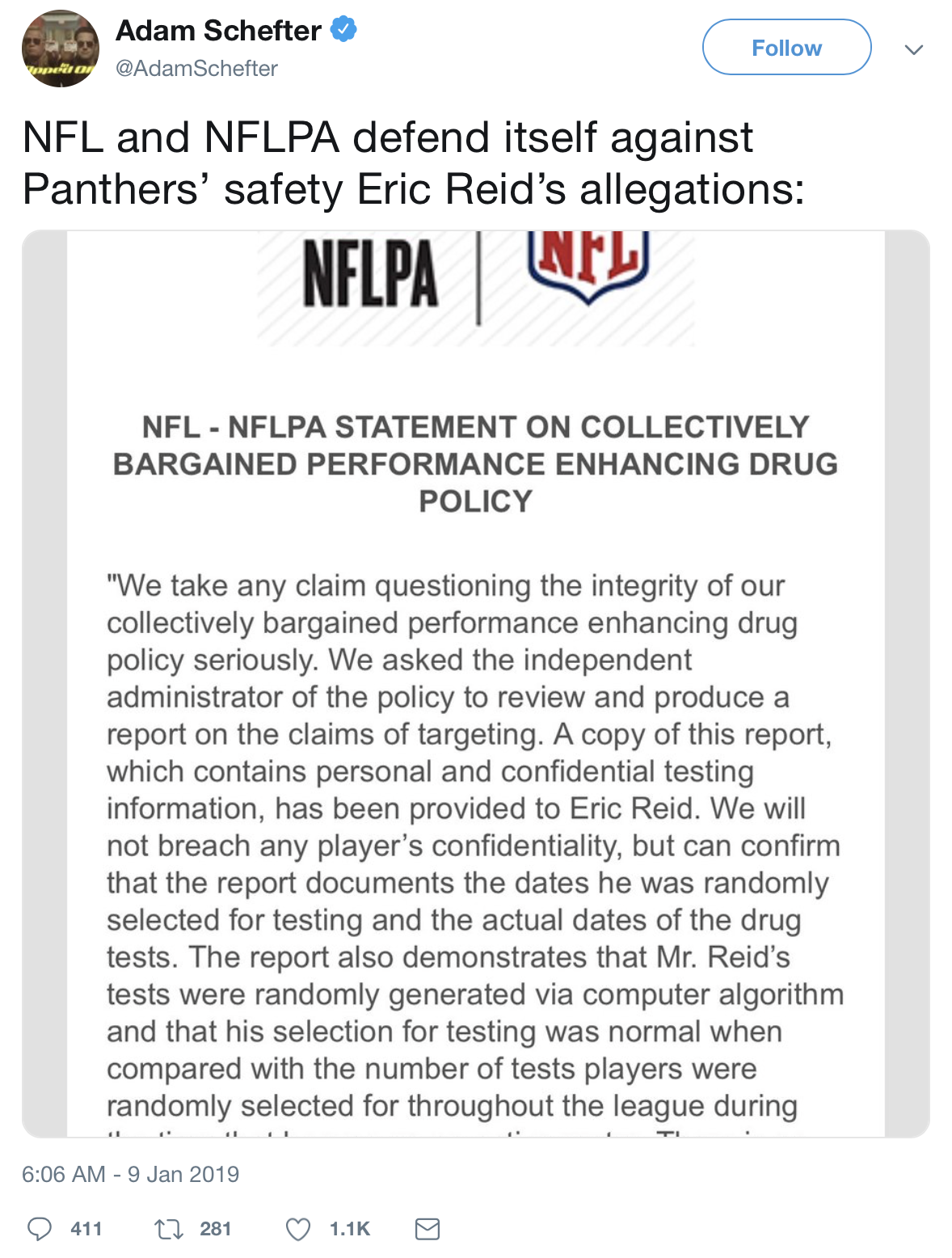 NFL Anthem Protester Exaggerates Drug Test Numbers to Media | The Lead
