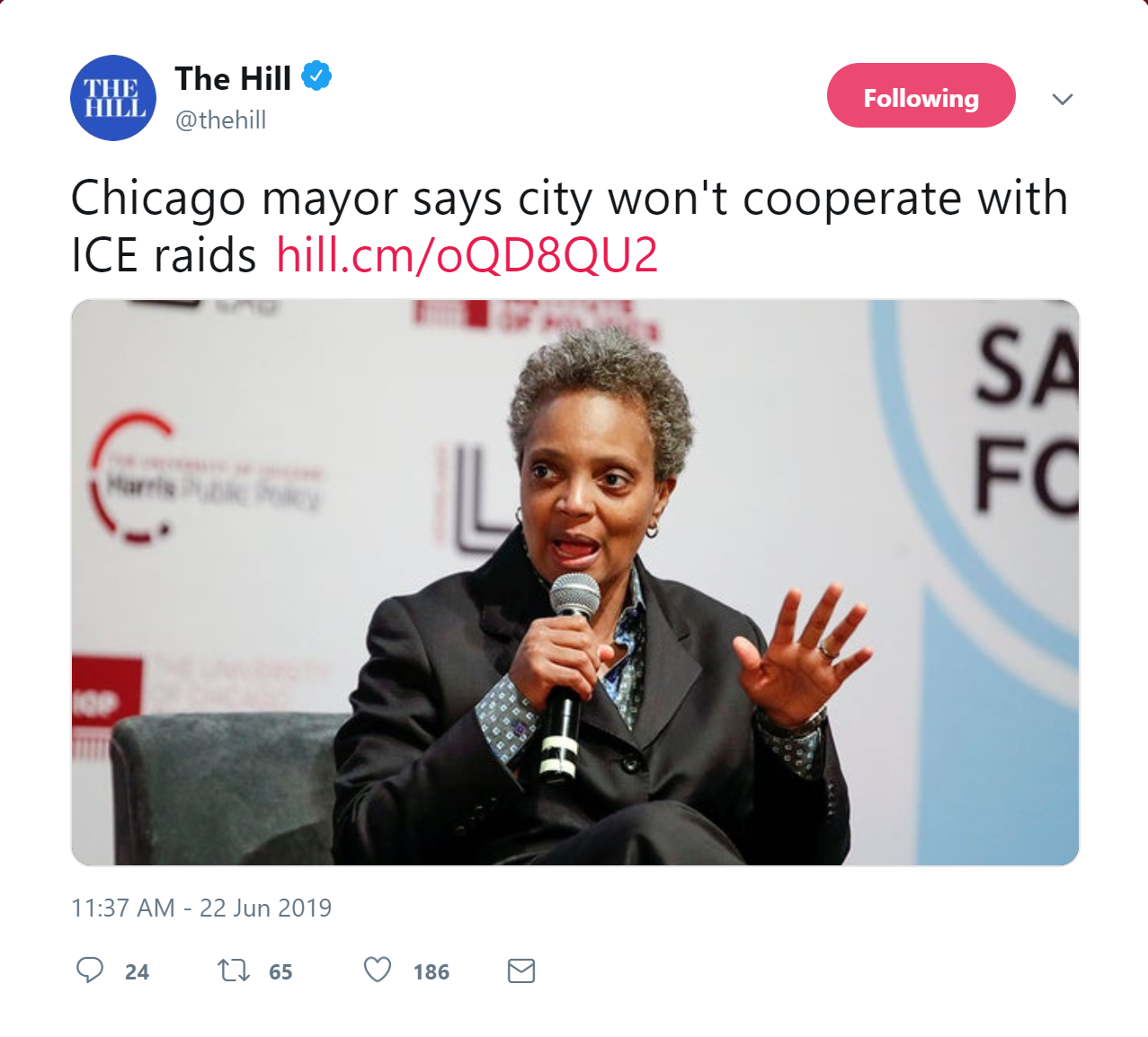 Chicago Mayor Refuses to Cooperate in Nationwide ICE Raids