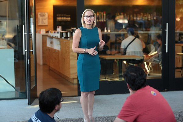 Democrat Senator Kyrsten Sinema Stands and Applauds Trump's Tax Cuts