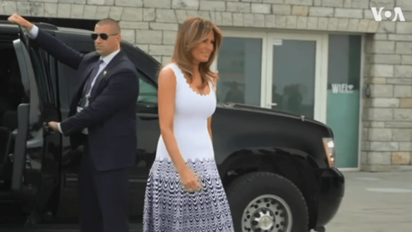 What Melania Wore on the Final Day of the G-7 Summit