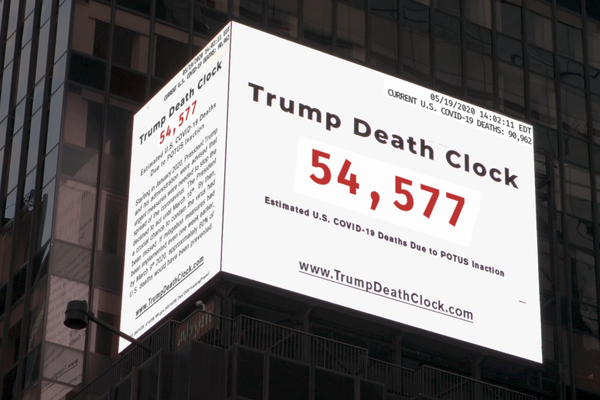 Trump Death Clock Puts Lies in Lights