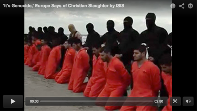 'It's Genocide,' Europe Says of Christian Slaughter by ISIS