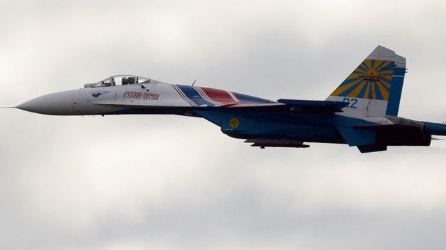 Russian fighter flies 20 feet from US Navy plane over Black Sea