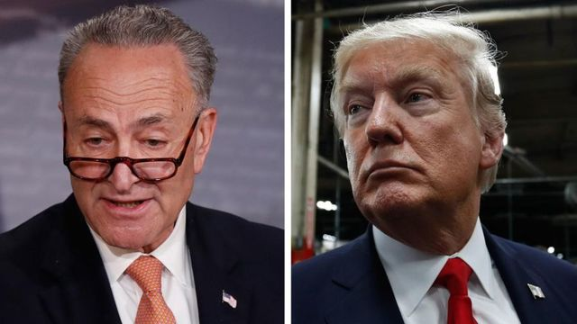 Trump says he spoke with Schumer, who says deal on replacing ObamaCare is 'off the table'