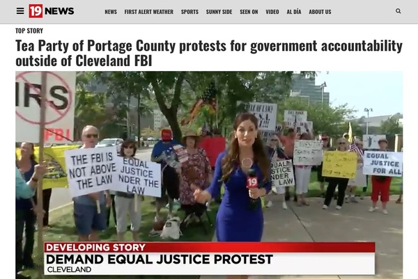 Channel 19 Live Coverage of TEA Party Protest at FBI Office