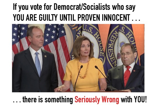 Left Says You are Guilty Until Proven Innocent