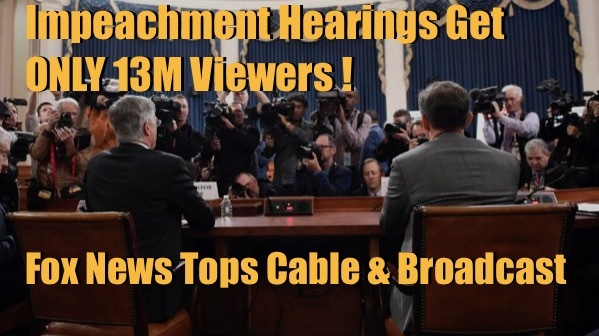 Impeachment gets only 13M Viewers!