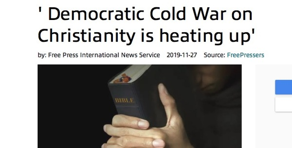Dem Cold War on Christianity is Heating Up