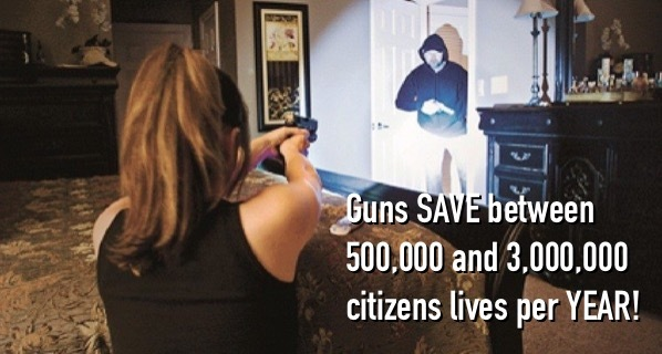 Guns SAVE 90 TIMES more lives than they take!