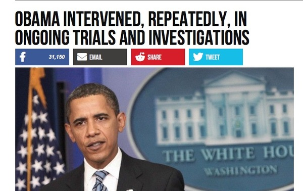 Obama Intervened in Trials and Investigations but that was OK - Right?