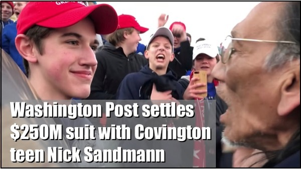 Sandmann Get's Millions from Wa-Po for Defamation