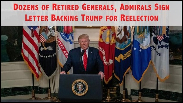 Over 230 Retired Military Officers Endorse Trump