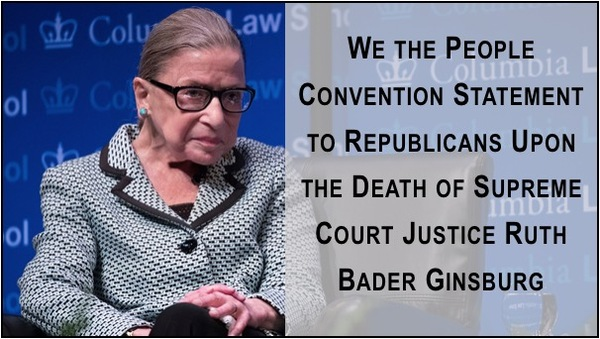 WTPC Statement to Republicans after Death of Justice Ginsburg