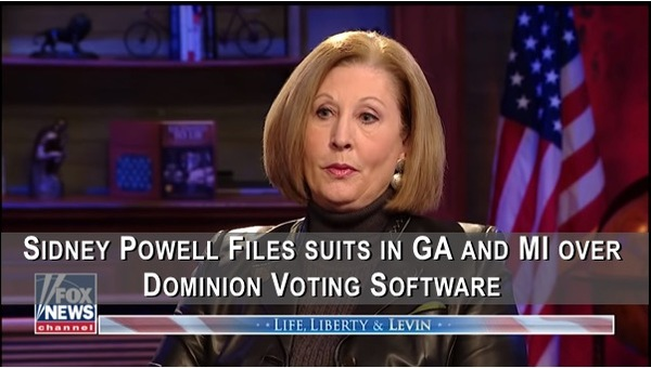 Sidney Powell Files Suits in Georgia and Michigan