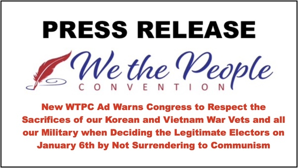 WTPC Ad intended to Remind Congress of their Duty on Jan 6th