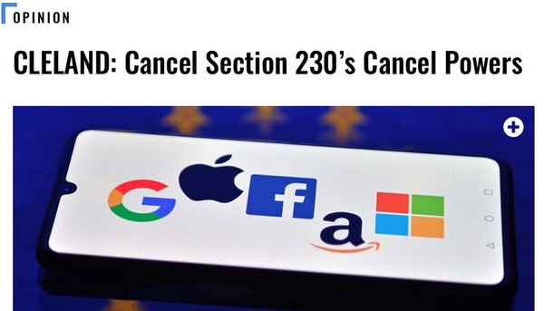 Section 230 Must Be Repealed not Reformed