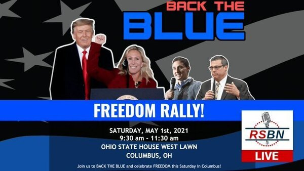 Back the Blue Rally in Columbus, Saturday, May 1, 2021