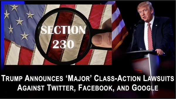 Trump Files Class Action Suit against Big Tech! Can we join it?