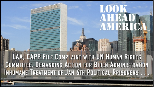 Groups File Complaint with U.N. for Treatment of Jan 6th Prisoners