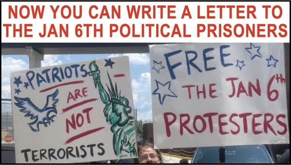 Now you can send a letter of encouragement to the Political Prisoners!