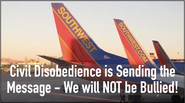 Our Civil Disobedience shows we will Defend our Rights!